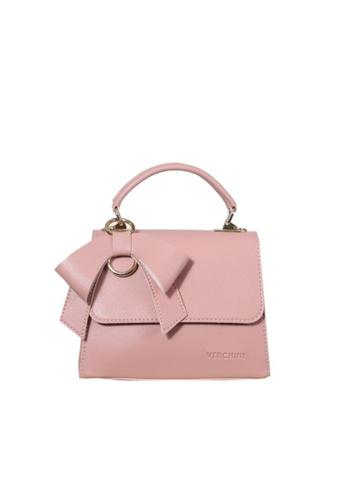 Verchini pink Verchini Front Flap Top Handle Bag E3AECACA3EA36EGS_1
