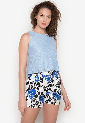 ANYA blue Mia Sleeveless Blouse AN899AA0JPACPH_1