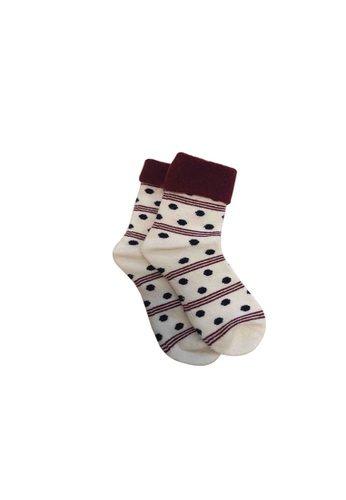 Universal Traveller white Universal Traveller Women Wool Socks - SKWW 9242 41975AA9914E0CGS_1