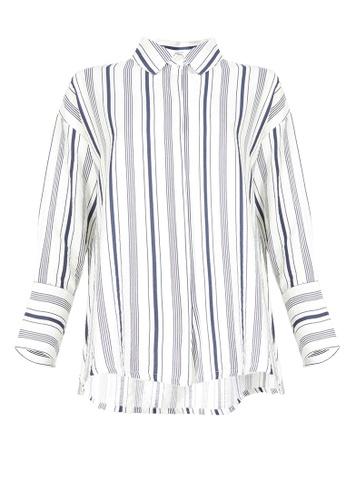 POPLOOK white Nana Drop Shoulder Shirt 51A5DAAC57E998GS_1