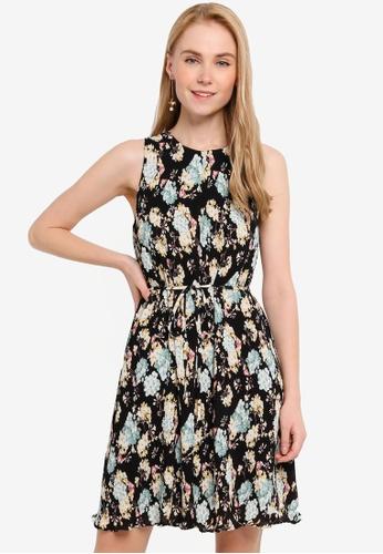 FORCAST black Vienna Floral Printed Dress 02CFEAAEEDB4D0GS_1