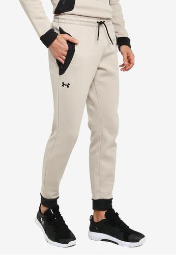 Under Armour beige UA Recover Fleece Pants 7C833AA0BDFEB4GS_1