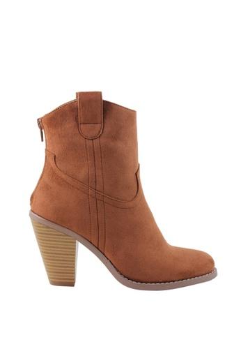 London Rag 黃色 London Rag女士棕色靴子LP6416-01 31FDDSH7AF0A89GS_1