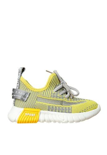 Twenty Eight Shoes 黃色 VANSA 舒適針織運動鞋 VSK-T518 0D2F1KSFB3872CGS_1