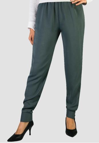 Zaryluq grey Cuffed Pants in Smokey Grey 89D10AA64D7354GS_1
