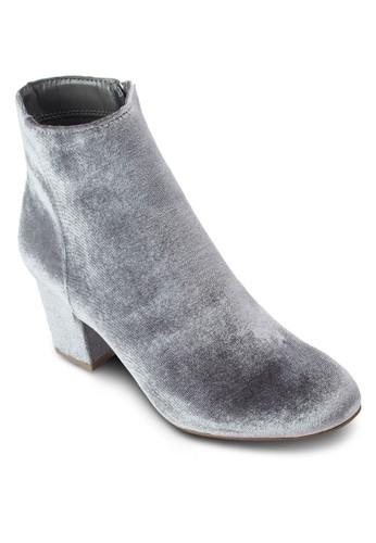 仿麂皮粗跟踝zalora退貨靴, 女鞋, 鞋