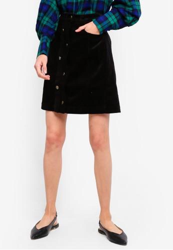 ESPRIT black Woven Mini Skirt FEADAAA75434A7GS_1