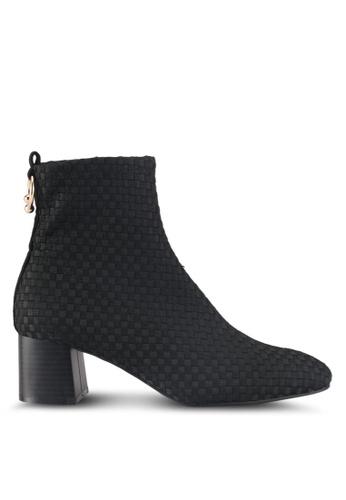 TOPSHOP black Blossom Sock Boots 1F27ASH67CC217GS_1