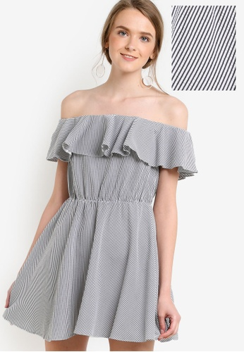 Miss Selfridge multi Petite Stripe Ruffle Sundress MI665AA81UOOMY_1