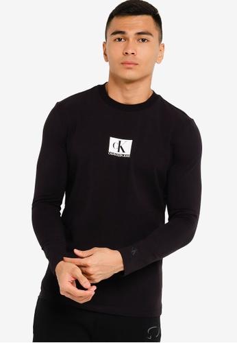 Calvin Klein black Small Centre Logo Tee - CK Jeans F5199AA1C1A176GS_1