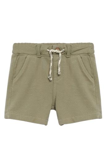 MANGO BABY green Organic Cotton Bermuda Shorts 91D9CKAFB06010GS_1