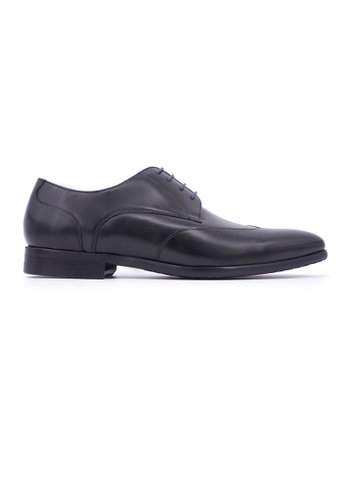 Rad Russel 黑色 Rad Russel Lace-up Derby with Wing-tips - Black E804DSHE09B37FGS_1