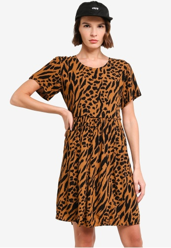 OBEY brown Iggy Ss Dress DFB0DAA12CAC6EGS_1