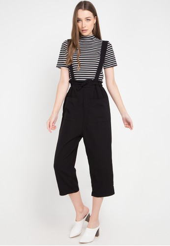 Ninety Degrees black Posh Overall Long Pants 0A0C7AA8F25A9FGS_1