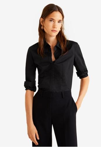 Mango black Cotton Shirt A4783AA02BAB01GS_1
