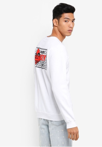 OBEY white Big Boy Pants Basic Crewneck Sweatshirt C89BBAA13592DCGS_1