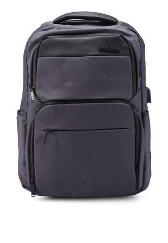 Bagstationz grey Premium Multi Compartment Laptop Backpack 3701FAC5825849GS_1