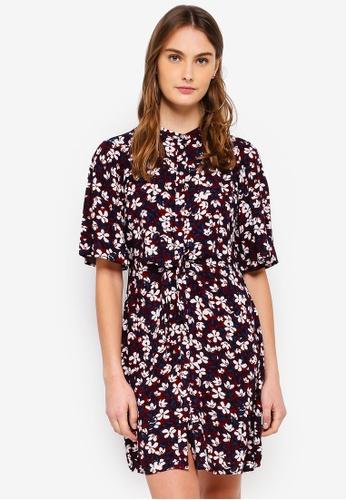 Vero Moda multi Billia 2/4 Short Shirt Dress C306BAACB76FD7GS_1