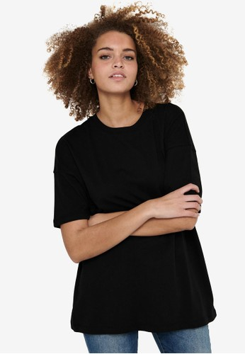 ONLY black Aya Life Oversized T-Shirt 83158AA3FD5397GS_1