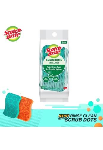 Scotch-Brite 3M Scotch-Brite Scrub Dots Heavy Duty Scrub Sponge 2pcs D7B31HLB0BE6AEGS_1