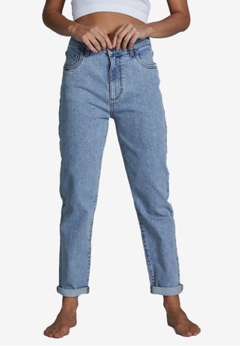 Cotton On blue Stretch Mom Jeans D1235AA0B1DE34GS_1