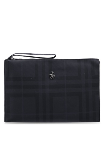 Swiss Polo black Check Clutch Bag 4E5A3AC4FC07C0GS_1