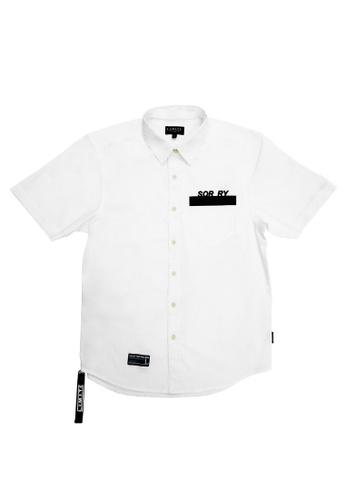 L.I.M.I.T.E white Printed & Emb. with Zipper & tape Shirt 49B99AAFED16F2GS_1