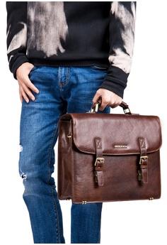 38% OFF ENZODESIGN Vintage Brown Buffalo Leather Satchel HK  1 150cc8afef064
