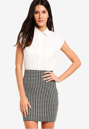 ZALORA multi Shirt Dress With Bodycon Skirt 3388DAA7BE13E0GS_1