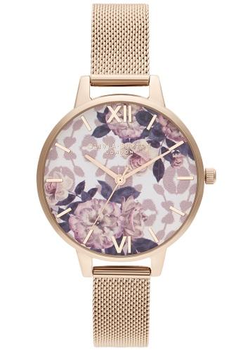 Olivia Burton multi Olivia Burton Wild Flower Pale Rose Gold Women's Watch (OB16LP01) 5B7E3AC958B7AFGS_1