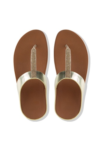 85ecb5c3c Buy Fitflop Fitflop Fino Crystal Toe-Thong Sandals (Gold) Online ...