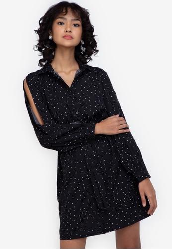 ZALORA BASICS multi Basic Tie Waist Shirt Dress F142CAAA37C475GS_1