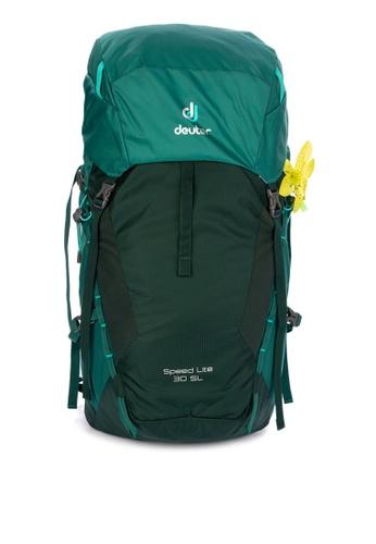 Deuter green Speed Lite 30 Slim Line Day Hike Backpack 2018 7902CAC70711B9GS_1