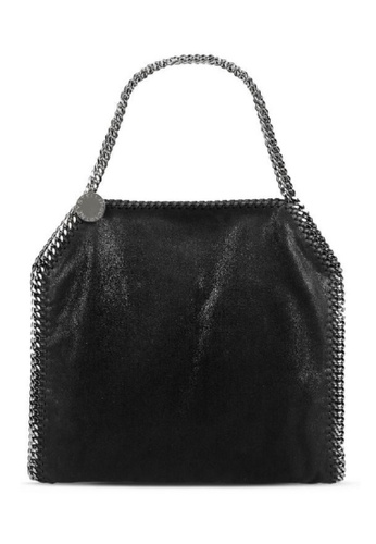 STELLA MCCARTNEY black STELLA MCCARTNEY FALABELLA SHAGGY DEER SMALL TOTE 9F542AC232909CGS_1