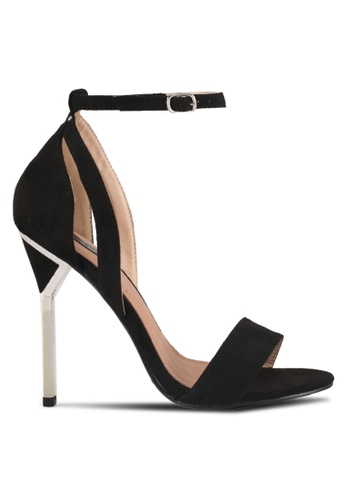LOST INK black Bre Metal Heeled Sandals 2CADCSHED0233DGS_1