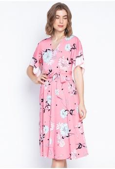 c161014e4 DEBENHAMS pink Principles - Floral Scarf Print Dress 03546AAD0518ECGS_1