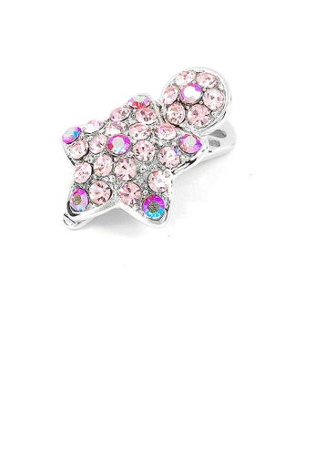 Glamorousky pink Dazzling Star Hair Clip with Pink CZ and Austrian Element Crystals (1pc) 6227DACFC0904AGS_1