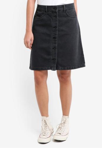 ONLY black Farrah Denim Skirt 92D2DAADB6F9A0GS_1