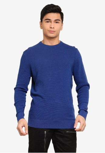 LC Waikiki blue Thin Knitwear Sweater 70176AA4CF51F1GS_1