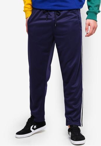 Cotton On 海軍藍色 Slim Side Stripe Track Pants D3ECEAACB0D785GS_1