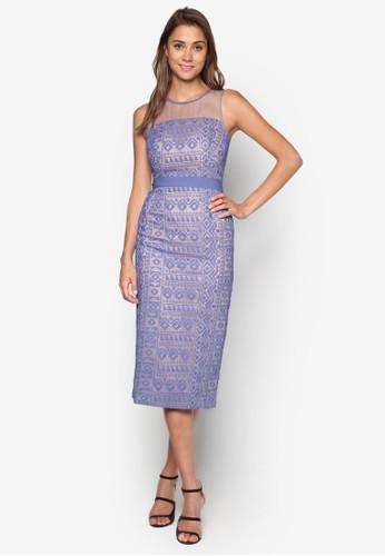 蕾絲鉛筆連身裙、 服飾、 洋裝WAREHOUSE蕾絲鉛筆連身裙最新折價