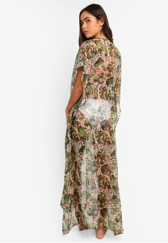 94e5eb6c57 Buy South Beach Safari Print Tie Maxi Kaftan Online on ZALORA Singapore