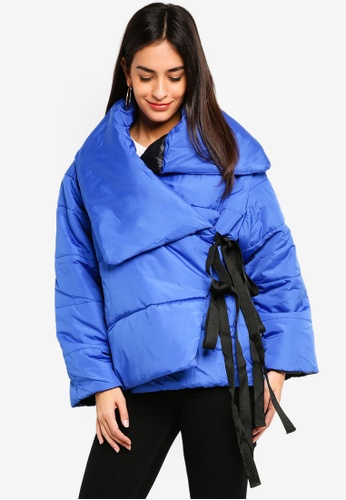 Glamorous blue Blue Padded Puffer Jacket 3483AAA5ADE6A8GS_1