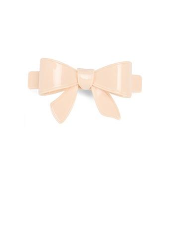 Glamorousky beige Simple and Cute Beige Ribbon Large Hair Slide B4ABAAC04E47C0GS_1