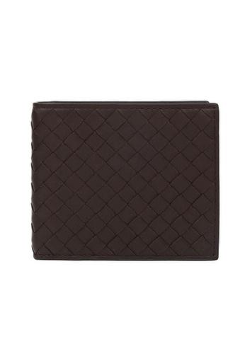 Bottega Veneta brown Bottega Veneta Intrecciato Bi-Fold Wallet in Dark Brown for UNISEX 03832ACAE222D3GS_1