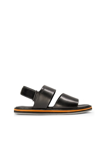 SEMBONIA black SEMBONIA Men Leather Sandal (Black) SE598SH0SZ86MY_1