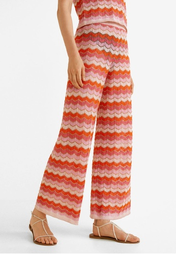 Mango red Striped Knit Trousers 92687AA7F6AD65GS_1
