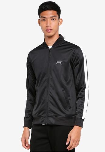 OBEY black Borstal Track Jacket 6238AAABFFCF88GS_1