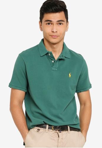 Polo Ralph Lauren green Short Sleeve Slim Fit Polo Shirt - Weathered Mesh 485CDAA857228DGS_1