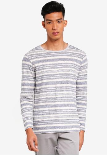 UniqTee grey Gradient Striped Long Sleeve Tee DF759AAF48DEB1GS_1
